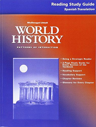 9780618182916: McDougal Littell World History: Patterns of Interaction: Reading Study Guide: Spanish Translation Grades 9-12