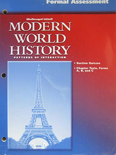 9780618184675: Formal Assessment Modern world History Patterns of Interaction