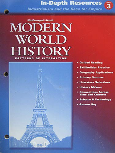 In-Depth Resources Unit 3: Industrialism and the: McDougal Littell