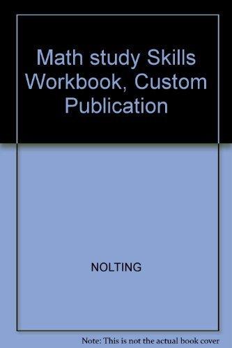 9780618185542: Math study Skills Workbook, Custom Publication