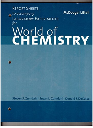 9780618190638: Report Sheets to accompany Laboratory Experiments for World of Chemistry (Zumdahl)