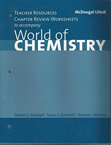 9780618190645: World of Chemistry: Teacher Resources, Chapter Review Worksheets