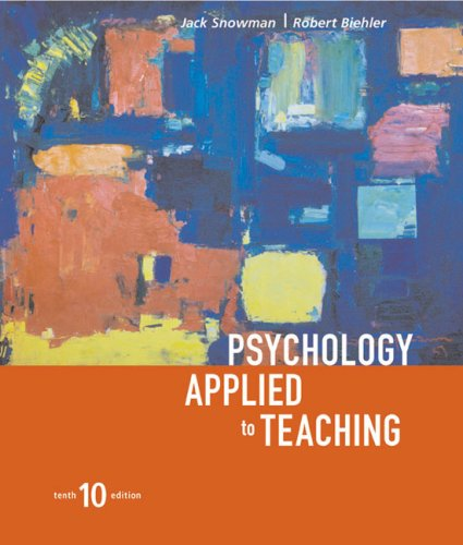 9780618192663: Psychology Applied To Teaching, Tenth Edition