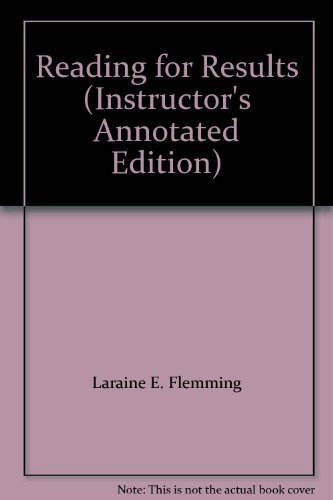 9780618193479: Reading for Results (Instructor's Annotated Edition)