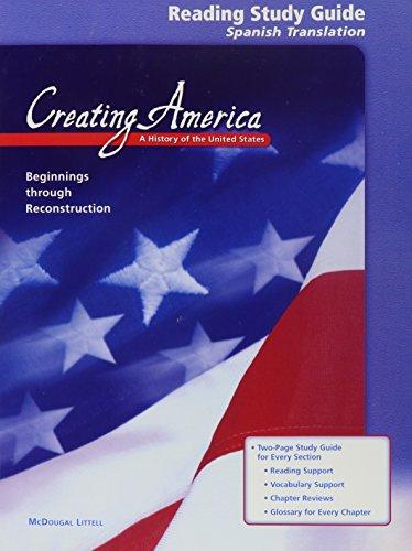 9780618194223: Creating America: Beginnings through Reconstruction: Reading Study Guide (Spanish)
