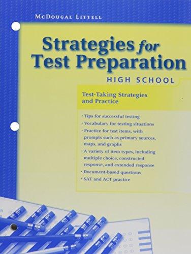 9780618202843: Strategies for Test Preparation: High School