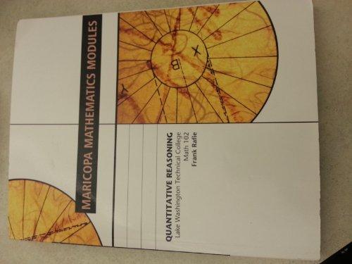 Maricopa Mathematics Modules Quantitative Reasoning: Beginning Algebra with Arithmetic Review: ...
