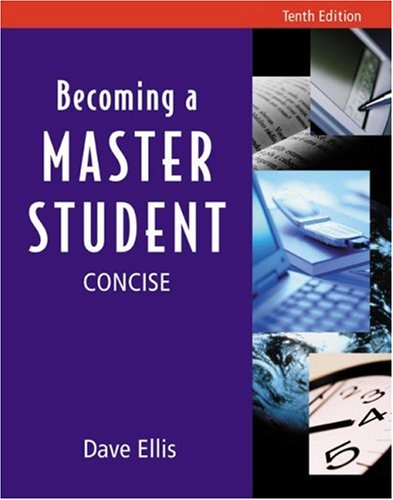9780618209095: Becoming a Master Student: Tenth Edition, Concise