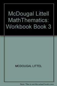 9780618212507: Middle Grades MathThematics: Workbook Book 3