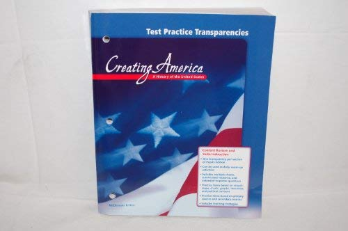 9780618212989: McDougal Littell Creating America: Test Practice Transparencies Grades 6-8