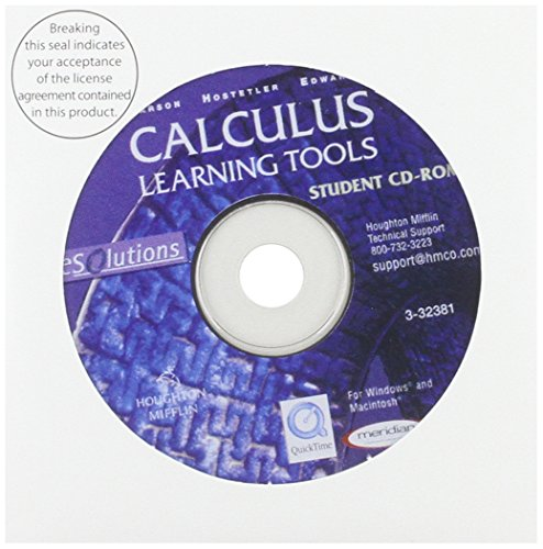 9780618213337: Calculus Learning Tools Student Cd-rom (Esolutions)