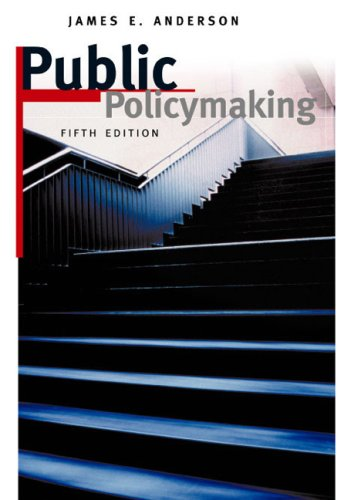 9780618215515: Public Policymaking 5 Edition