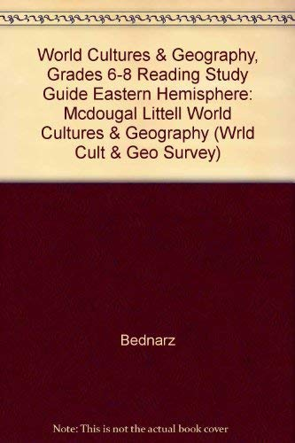 9780618217137: McDougal Littell World Cultures & Geography: Reading Study Guide Spanish Grades 6-8 Eastern Hemisphere (Wrld Cult & Geo Survey)