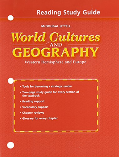 9780618217304: World Cultures & Geography: Western Hemisphere and Europe: Reading Study Guide Workbook (English)