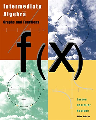 9780618218783: Intermediate Algebra: Graphs and Functions, Third Edition