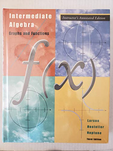 9780618218790: Intermediate Algebra - Instructor's Annotated Edition: Graphs and Functions