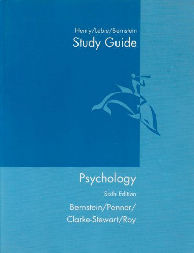 9780618219919: Study Guide: By Kelly Henry, Linda Lebie, And Douglas A. Bernstein: Used with ...Bernstein-Psychology