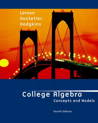 9780618220267: College Algebra: Concepts and Models