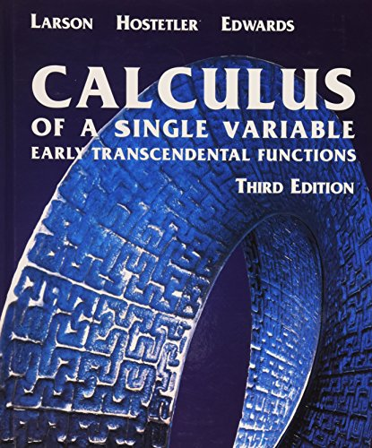9780618223084: Calculus of a Single Variable: Early Transcendental Functions Third Edition