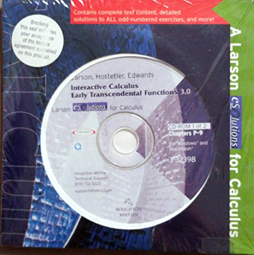 9780618223169: Calculus: Early Transcendental Functions - Esolutions Interactive 3.0