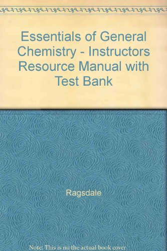 9780618223350: Essentials of General Chemistry - Instructors Resource Manual with Test Bank
