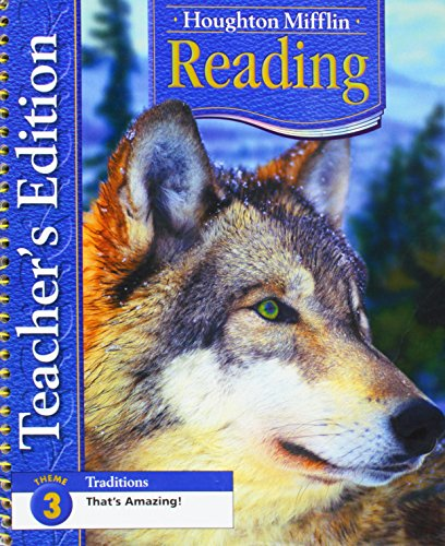 9780618225309: Houghton Mifflin Reading: Teacher's Edition Grade 4 Theme 3 2005