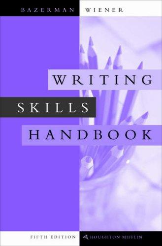 9780618226030: Writing Skills Handbook Fifth Edition