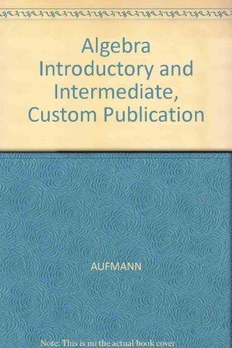 9780618226597: Algebra: Introductory & Intermediate