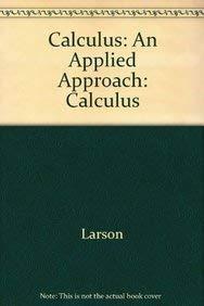 9780618226795: Calculus: An Applied Approach