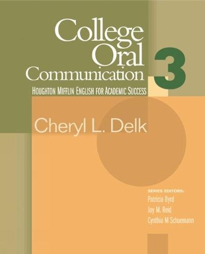 9780618230181: College Oral Communication 3 (Houghton Mifflin English for Academic Success) (Bk. 3)