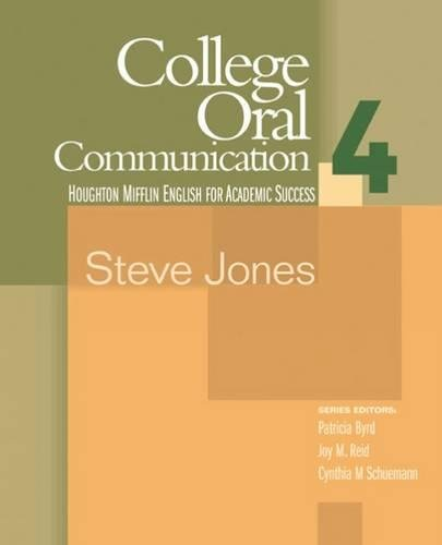 9780618230198: College Oral Communication 4 (Houghton Mifflin English for Academic Success) (Bk. 4)