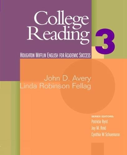 9780618230228: College Reading 3: Houghton Mifflin English for Academic Success
