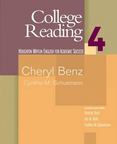 9780618230235: College Reading: Houghton Mifflin English for Academic Success, Vol.4