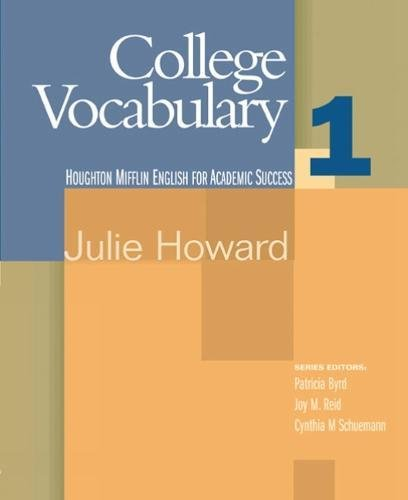 9780618230242: College Vocabulary, 1 (Houghton Mifflin English for Academic Success)
