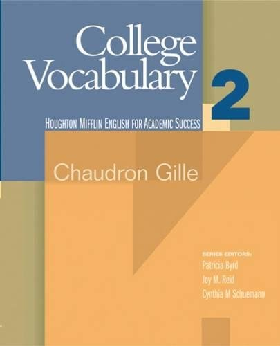 9780618230259: College Vocabulary 2 (Houghton Mifflin English for Academic Success)