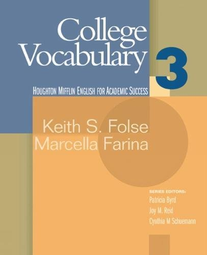 9780618230266: College Vocabulary 3 (Houghton Mifflin English for Academic Success) (Bk. 3)