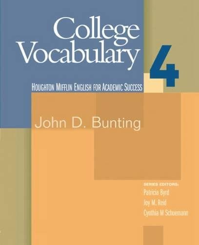 9780618230273: College Vocabulary 4: English for Academic Success (Bk. 4)