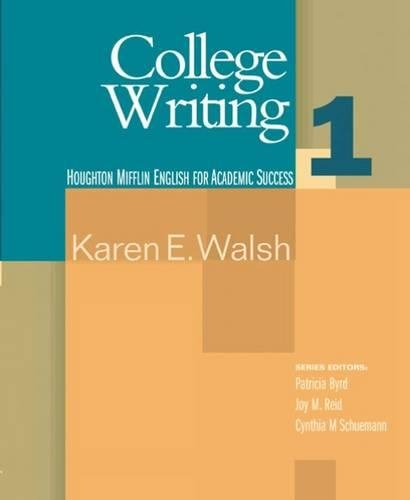9780618230280: College Writing: Student Text Bk. 1 (English for Academic Success)