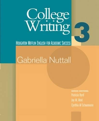 9780618230303: College Writing 3 (Houghton Mifflin English for Academic Success) (Bk. 3)