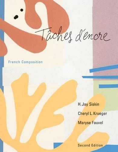 9780618230471: Tâches d'encre: French Composition