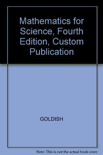 9780618230785: Mathematics for Science, Fourth Edition, Custom Publication