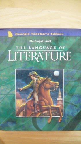9780618233236: McDougal Littell Language of Literature Georgia: Teacher's Edition Grade 8 2003