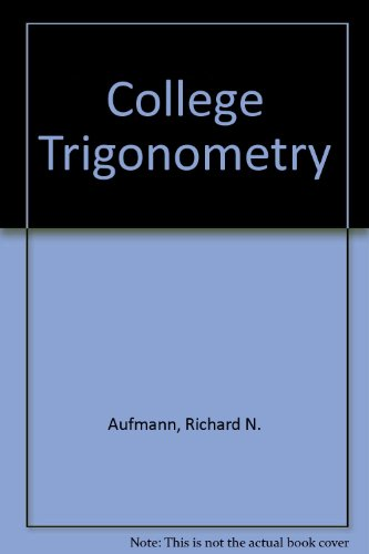 9780618235926: College Trigonometry With Upgrade Cd-rom Fourth Edition