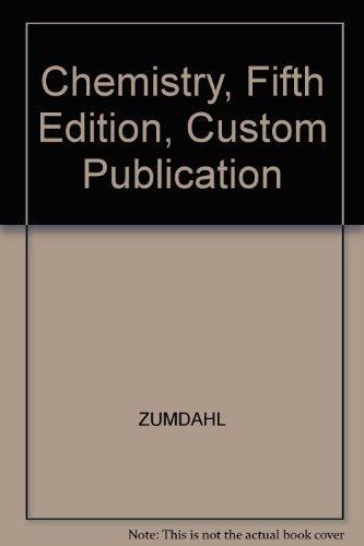 9780618236688: Chemistry, Fifth Edition, Custom Publication