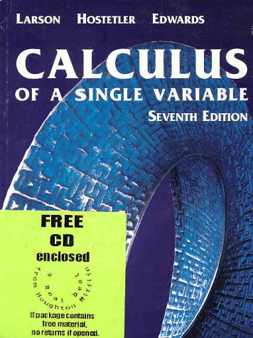 9780618239740: Calculus of a Single Variable