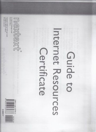 9780618239788: Guide to Internet Resources Certificate