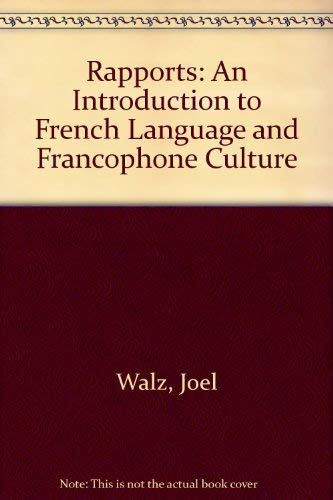 9780618239955: Rapports: An Introduction to French Language and Francophone Culture