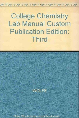 Laboratory Manual College Chemistry AbeBooks