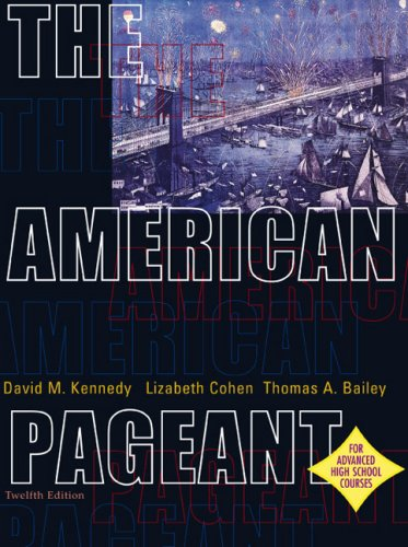 9780618247325: The American Pageant: A History of the Republic, 12th Edition