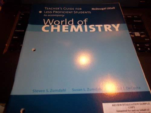 World of Chem Tguide 1e (9780618249039) by Steven S. Zumdahl; Susan L. Zumdahl; Donald J. DeCoste